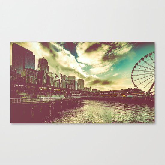 Seattle Pike Place Market Pier 57 Canvas Print