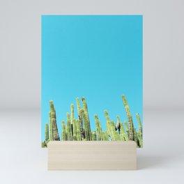 Desert Cactus Reaching for the Blue Sky Mini Art Print