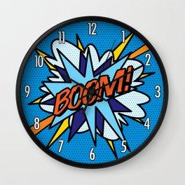 Comic Book Pop Art BOOM Wall Clock