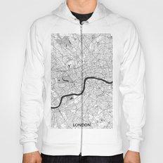 London Map Gray Hoody