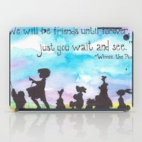 winnie the pooh iPad Cases featuring Winnie The Pooh and Friends by Brietron Art