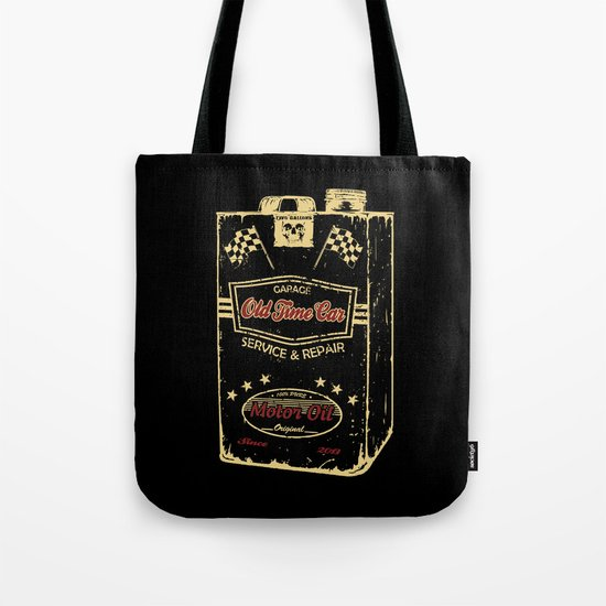 Old Time Car Oil Can  Tote Bag