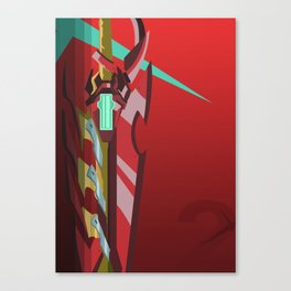 Crimson Aegis (Inspired by Xenoblade Chronicles 2) Canvas Print