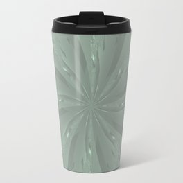 Lost in the Laurels Fractal Bloom Travel Mug