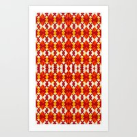 Art Print featuring Border V Pattern 1 by Cie Ja