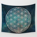 Mandala Flower of Life Rose Gold Space Stars by naturemagick
