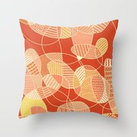 tangled Throw Pillows featuring Tangled by Anita Ivancenko