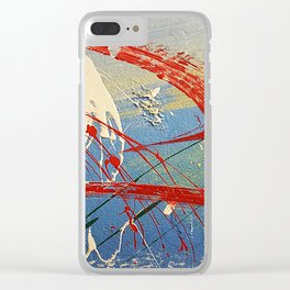 Wall Painting Mess Clear iPhone Case
