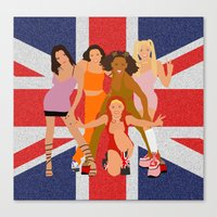 spice girls Canvas Prints featuring Spice Girls by Greg21
