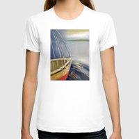 skyline T-shirts featuring Skyline by Vilnis Klints