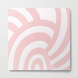 Modern Sea Shell - Pink Metal Print