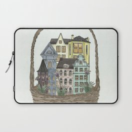 Basket town, city, homes Laptop Sleeve