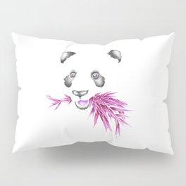 Panda Bear & Bamboo - Purple Pillow Sham