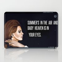 ultraviolence iPad Cases featuring WEST COAST by Alfonso Aranda