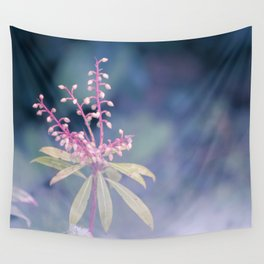 Dreamy Winter Haze, Pink Macro Plant - Nature Photography Wall Tapestry