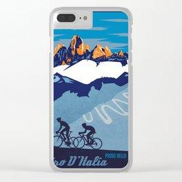 Giro d'Italia Passo Dello Stelvio cycling poster Clear iPhone Case