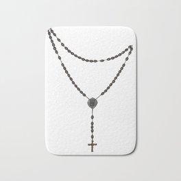 Wooden Rosary I Bath Mat