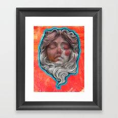 mascaron Framed Art Print