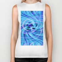 pivot Biker Tanks featuring Blue twirl by AvHeertum