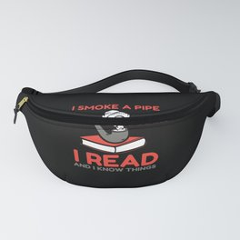 Book Lover Pipe Smoker Tobacco Literature Fanny Pack