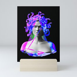 Vaporwave Triangular Medusa Mini Art Print