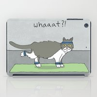 caleb troy iPad Cases featuring Yoga Cat by Caleb Croy by UCO Design