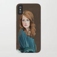 emma stone iPhone & iPod Cases featuring Emma Stone by Artsy Rosebud