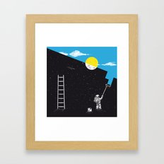 Night Painter Framed Art Print
