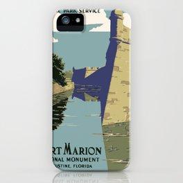 Vintage poster - Fort Marion iPhone Case