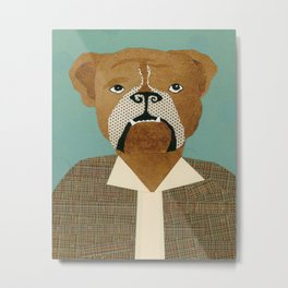 Mike The Bulldog Metal Print