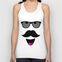 mustache Tank Tops featuring Mustache by siti fadillah