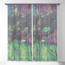 Pyroxene Crystals Sheer Curtain