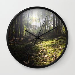 Mossy Floor. Rushmere Country Park, Bedfordshire. UK Wall Clock