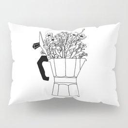 Moka Flowers - Coffee- BW Pillow Sham
