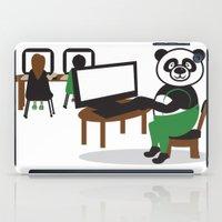 teacher iPad Cases featuring Panda Teacher by WCVS Online