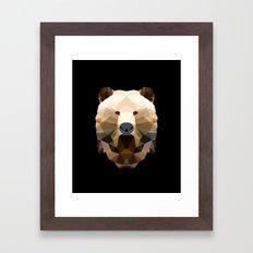 Polygon Heroes - The Bear Framed Art Print