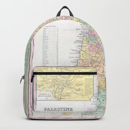 Old 1836 Historic State of Palestine Map Backpack