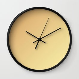 Pale Orange and Soft Yellow Gradient Wall Clock