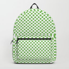 Green Flash Polka Dots Backpack