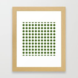 Simply Polka Dots in Jungle Green Framed Art Print