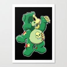 Zombie care bear Canvas Print