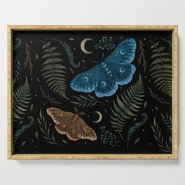 Moths and Ferns Serving Tray