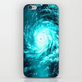 WaTeR Aqua Turquoise Hurricane iPhone Skin