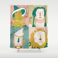 oz Shower Curtains featuring Oz by StinkyInky_Jess