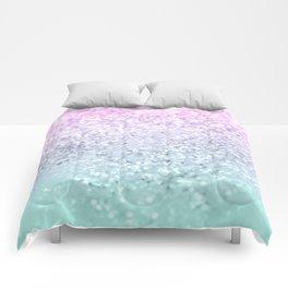 Mermaid Girls Glitter #1 (2019 Pastel Version) #shiny #decor #art #society6 Comforters