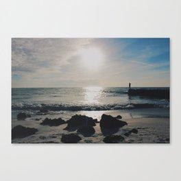 Alone on a Beach Canvas Print