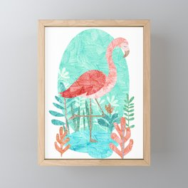 Flamingo Feelings Framed Mini Art Print