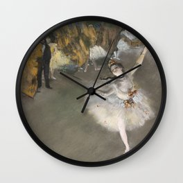 The Star - Edgar Degas Wall Clock