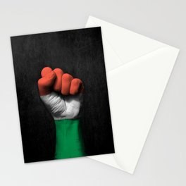Hungarian Flag on a Raised Clenched Fist Stationery Cards