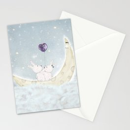 the love balloon Stationery Cards